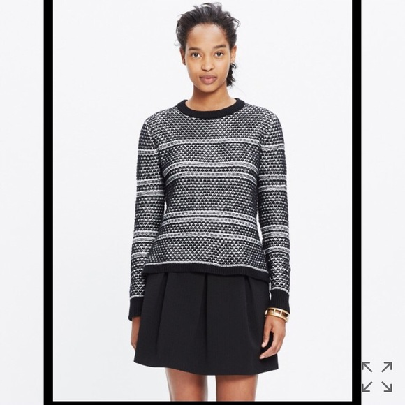 Madewell Sweaters - NWT Madewell Fineprint Pullover Sweater
